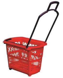 Shopping basket Bobby 48 L red