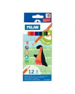 Milan Color pens ergo grip 12/box
