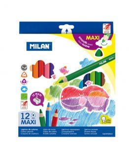 Milan Color pens Maxi ergo grip 12/box