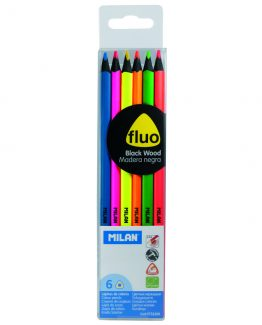 Milan black wood Flou pencils (6)