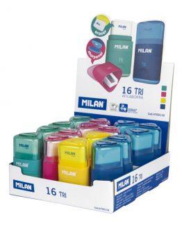 Milan Sharpener + Eraser TRI