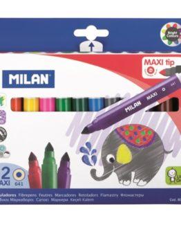 Milan Fibertip pens JUMBO 12/box