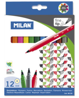 Milan Fibertip pens 12/box