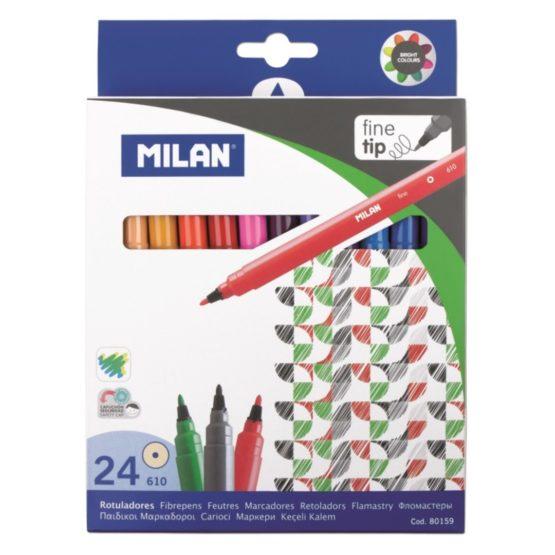 Milan Fibertip pens 24/box
