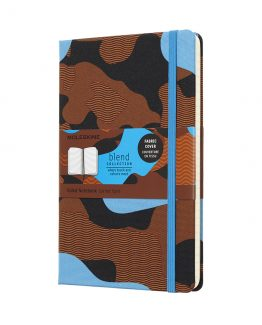 MOLESKINE BLEND LARGE RULED CAMOUFLAGE BLUE