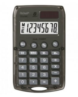 Rebell pocket calculator Starlet gray