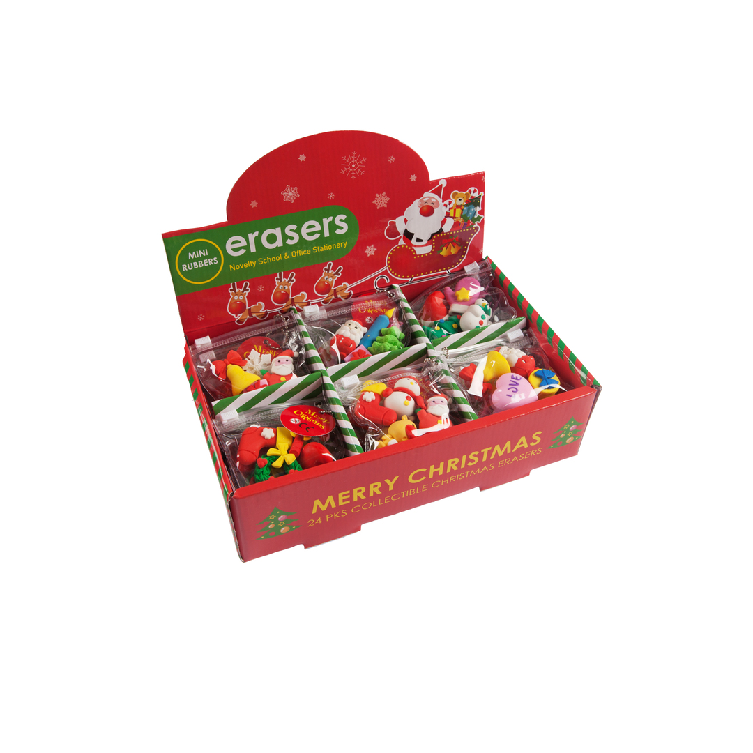 Erasers Christmas 4/set