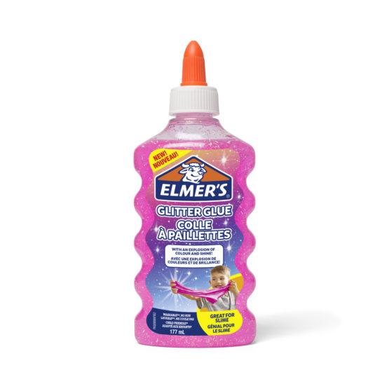 Glitter glue Elmers 177ml pink