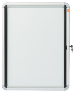 Display case glazed int 4xA4 white