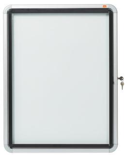 Display case glazed ext 4xA4 white