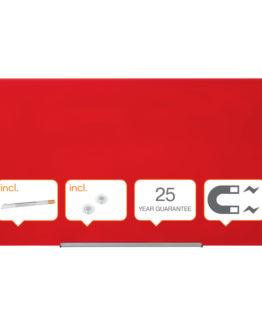 Glassboard Diamond 126x71cm red