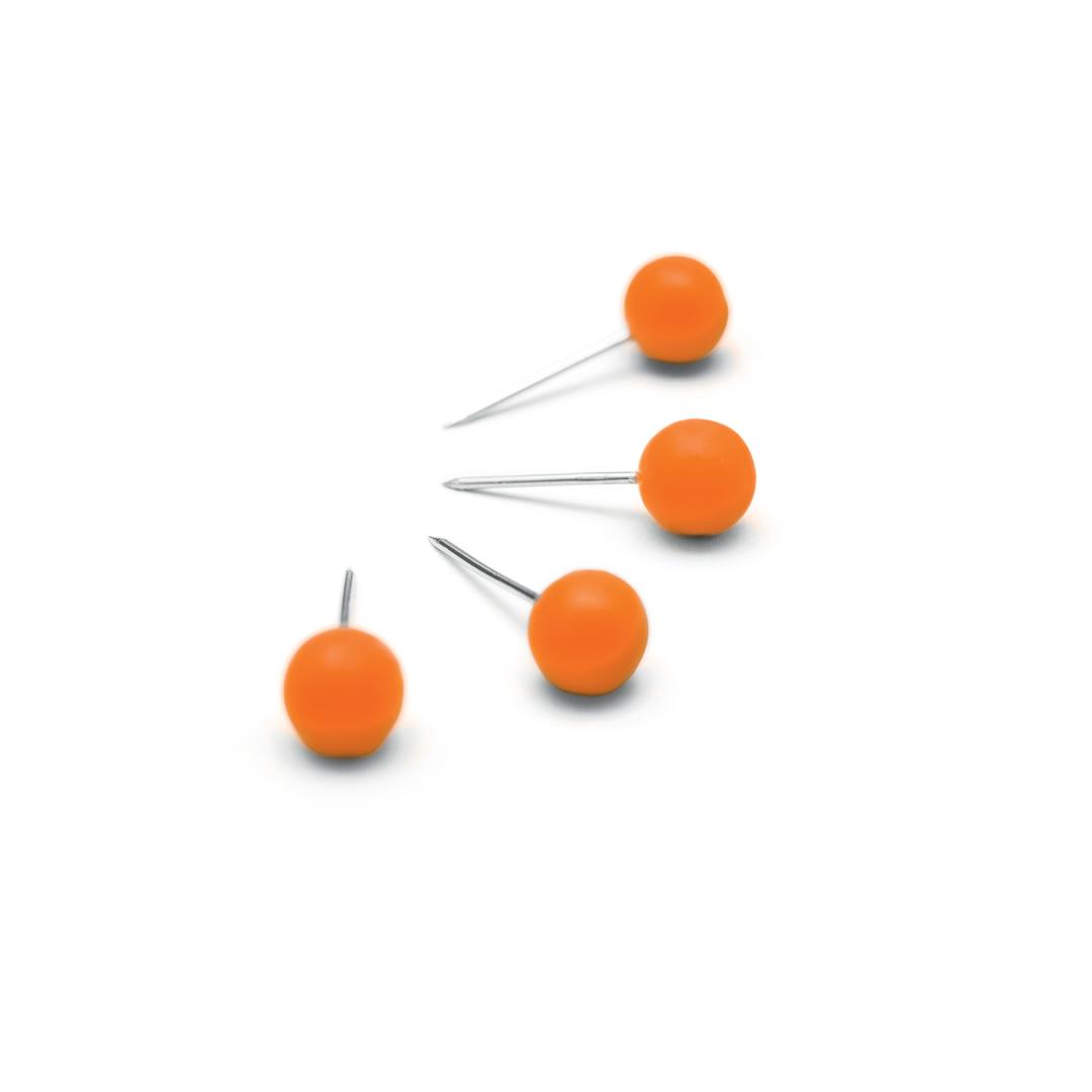 Notice Board Pins Nobo Orange (100)