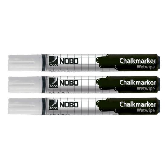 Chalk Markers Nobo White (3)