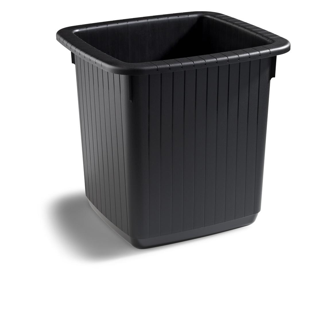 Waste bin rectanyellowar 20L black