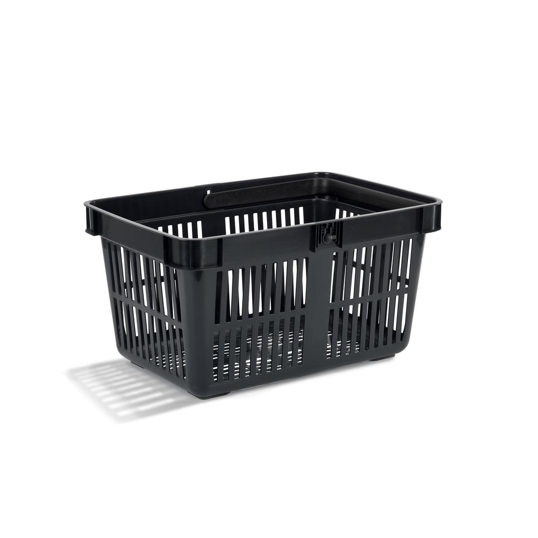 Shopping basket 27 liter black