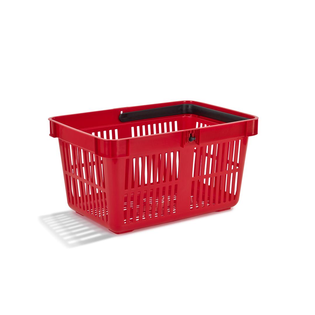 Shopping basket 27 liter red