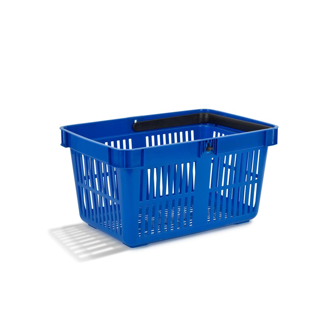 Shopping Basket 27 liter blue