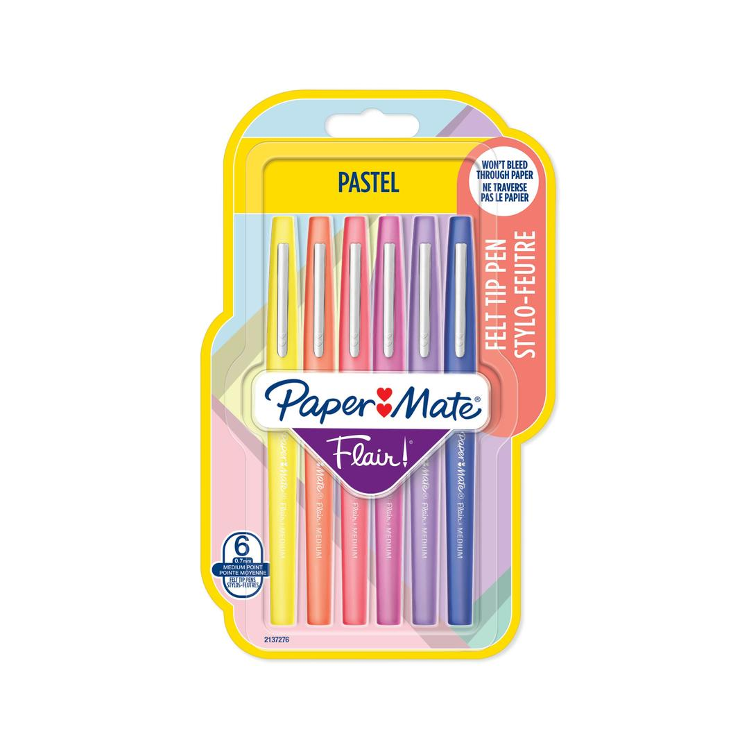 Papermate Flair Pastel 6-Blister Ass.colors