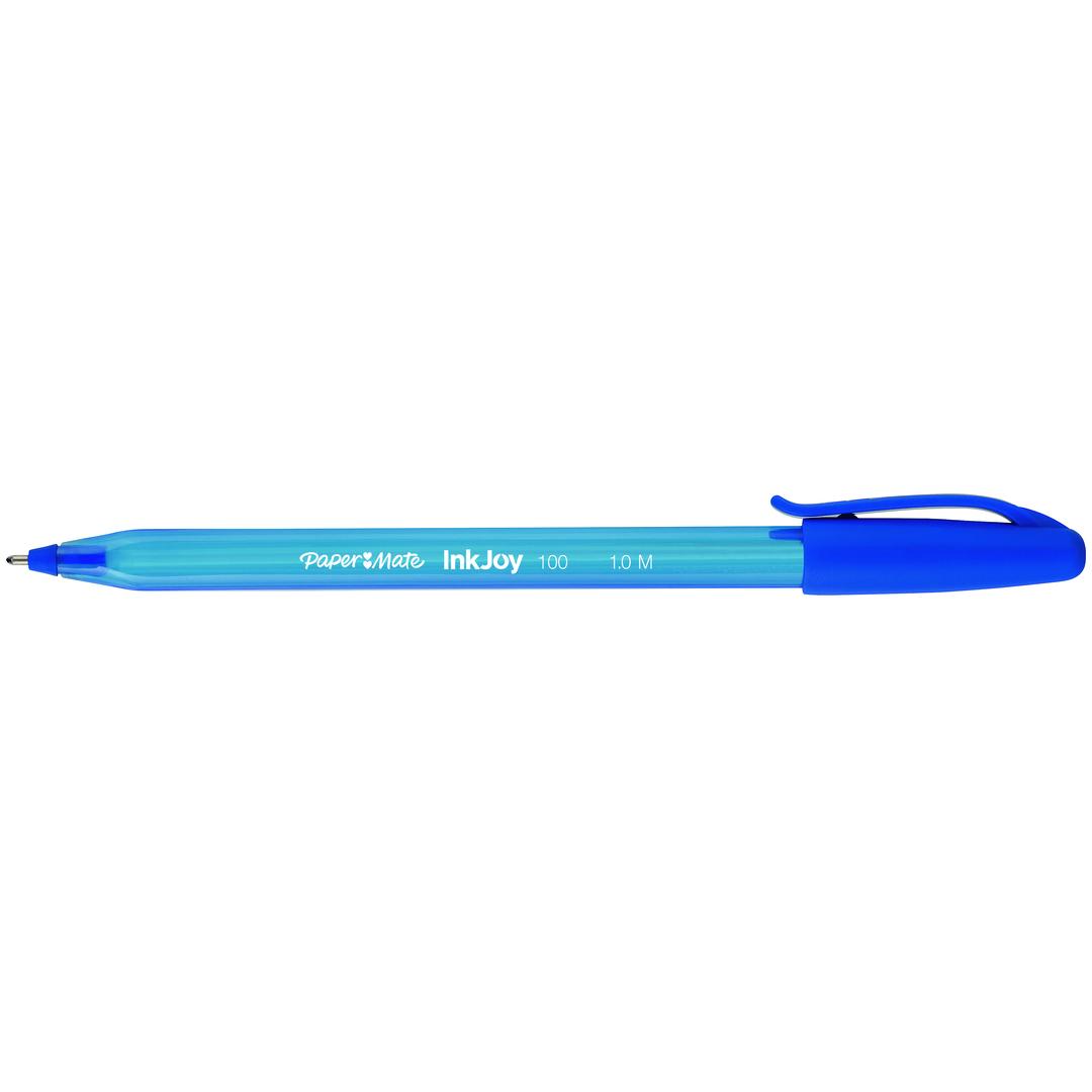 Ballpoint pen Papermate InkJoy 100 w/cap M blue