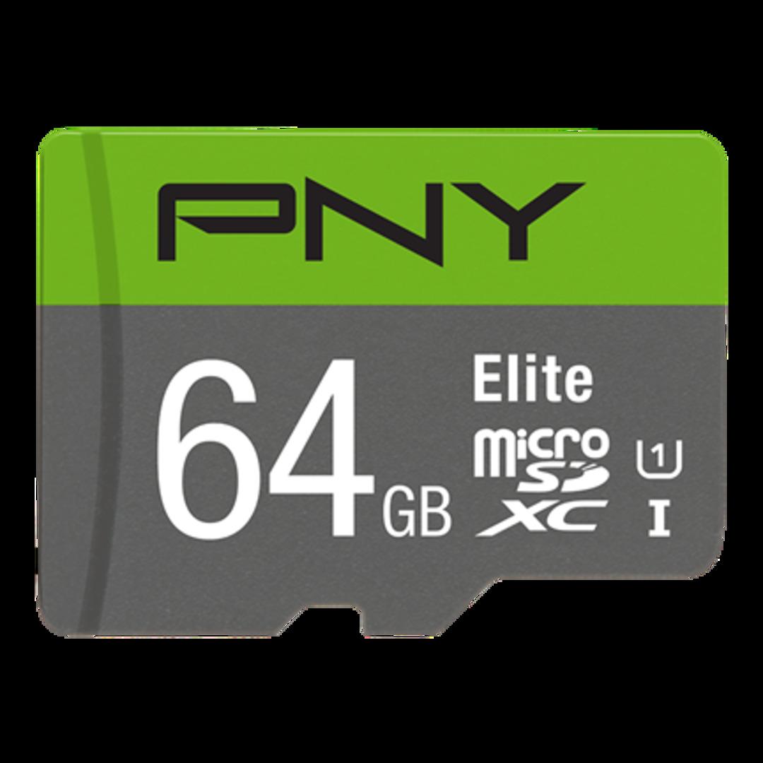PNY Micro SDXC Elite 64GB Class 10 w/adapter