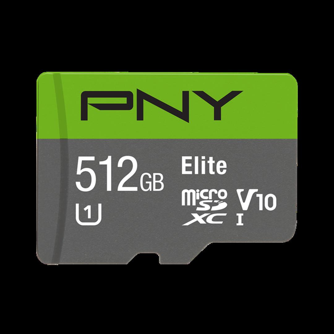 PNY Micro SDXC Elite 512GB Class 10 w/adapter