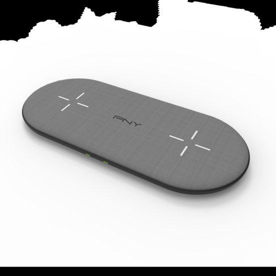 Qi Dual Wireless Charging Base 20W, Black/Grey