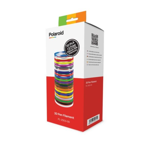 Polaroid 20 Pack PLA 3D Pen 1,75mm Filament incl 2 free silk