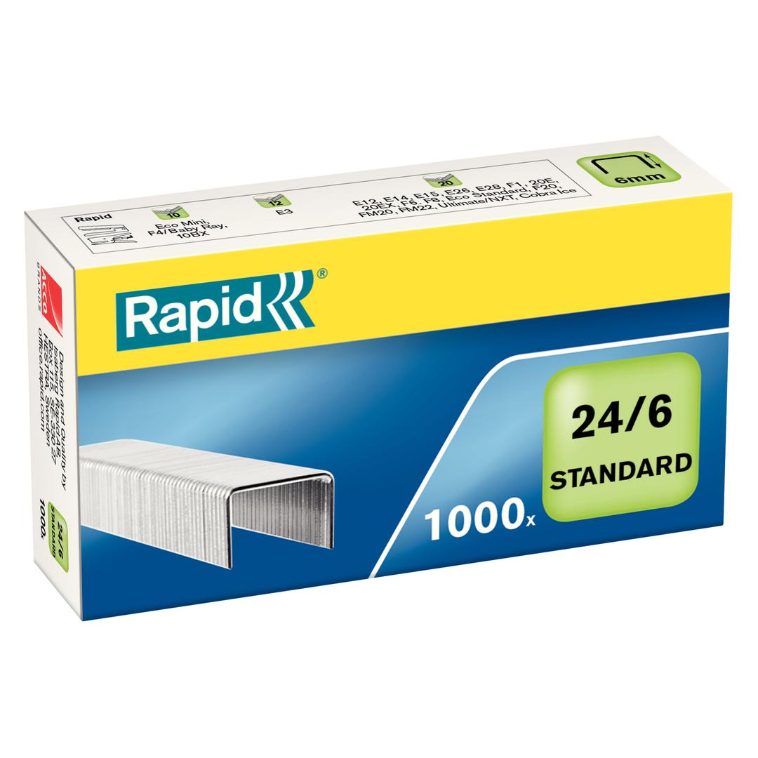 Staples 24/6 standard galv (1000)
