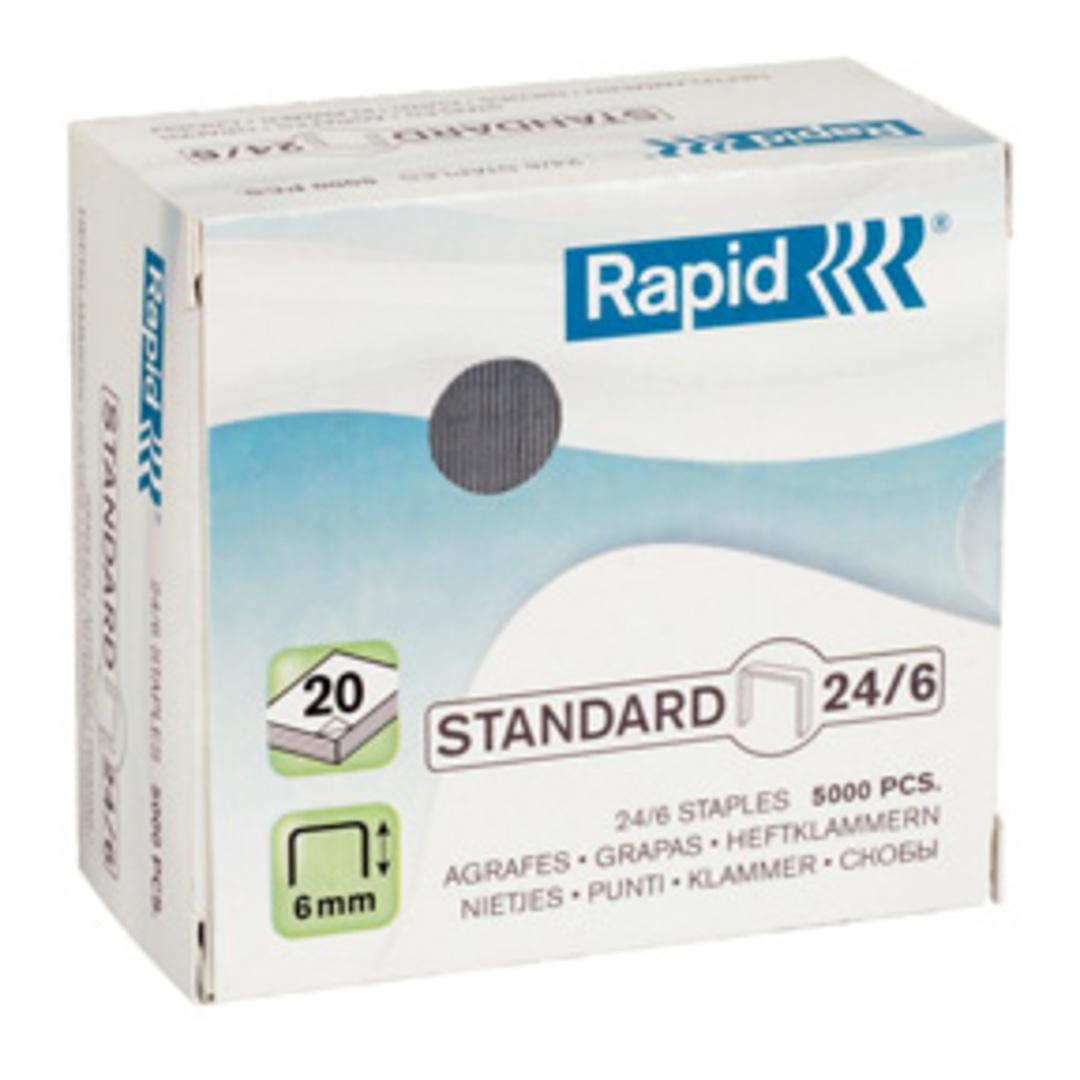 Staples 24/6 standard galv (5000)