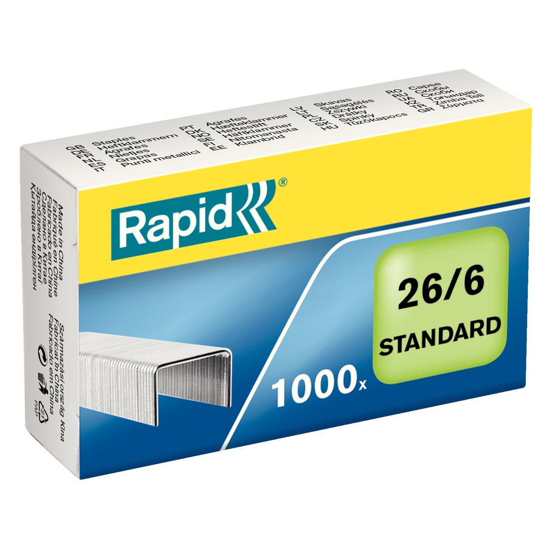 Staples 26/6 standard galv (1000)