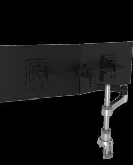 R-Go Zepher 4 Monitorarm plus Smart Bar, Silver