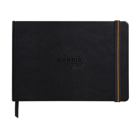 Rhodia Carb'onbook hard A5 56sh blank 120g
