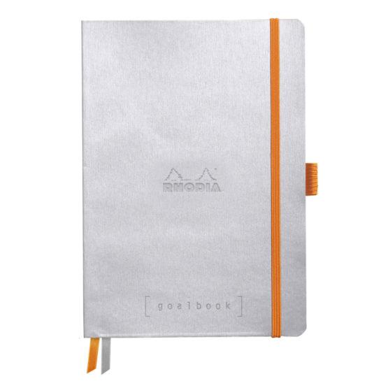 Rhodia Goalbook soft silver A5 dot ivory