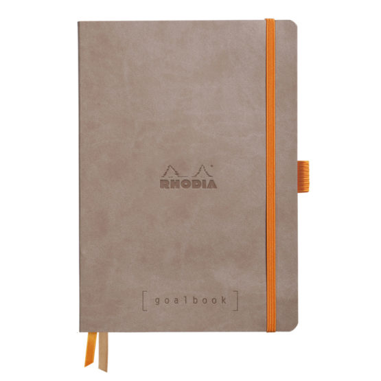 Rhodia Goalbook soft taupe A5 dot ivory