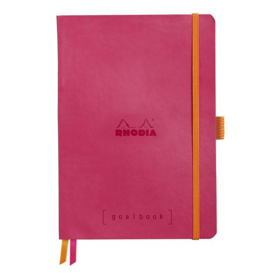 Rhodia Goalbook soft raspberry A5 dot ivory