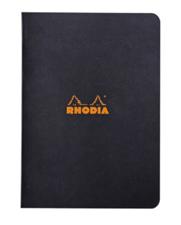 Rhodia Classic stapl black A5 ruled