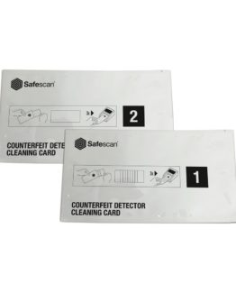 Safescan cleaning cards for automatic counterfeit detectors