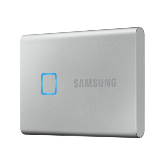 Samsung T7 Touch External SSD 1TB, Silver