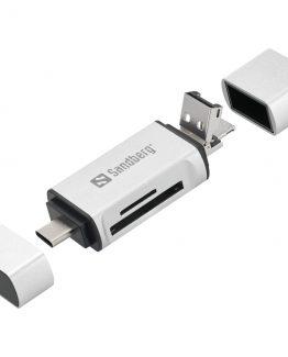 Sandberg Card Reader USB-C+USB+MicroUSB