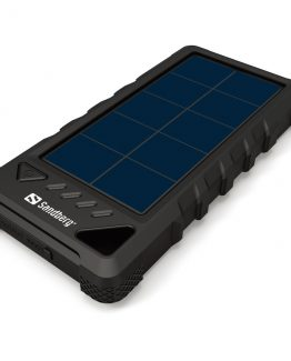 PowerBank Outdoor Solar 16000 mAh, Black