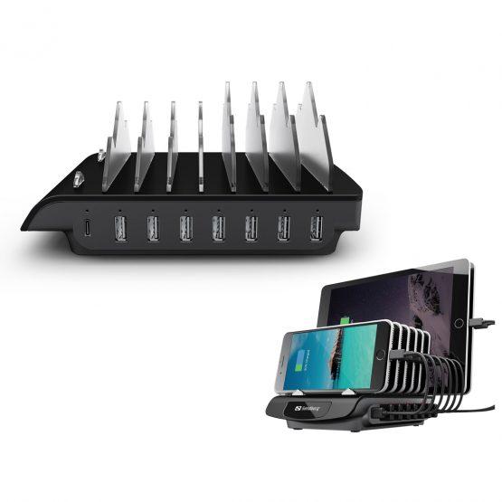 Multi USB Charging Station, Black