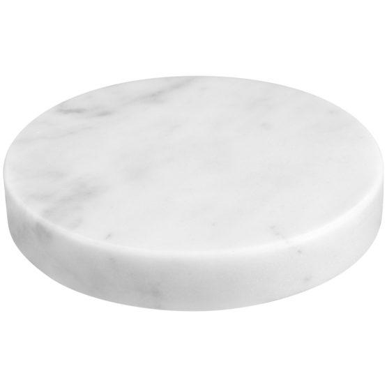 Sandberg Marble Stone Charger, White