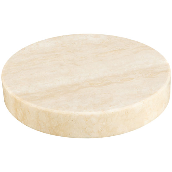 Sandberg Marble Stone Charger, Beige