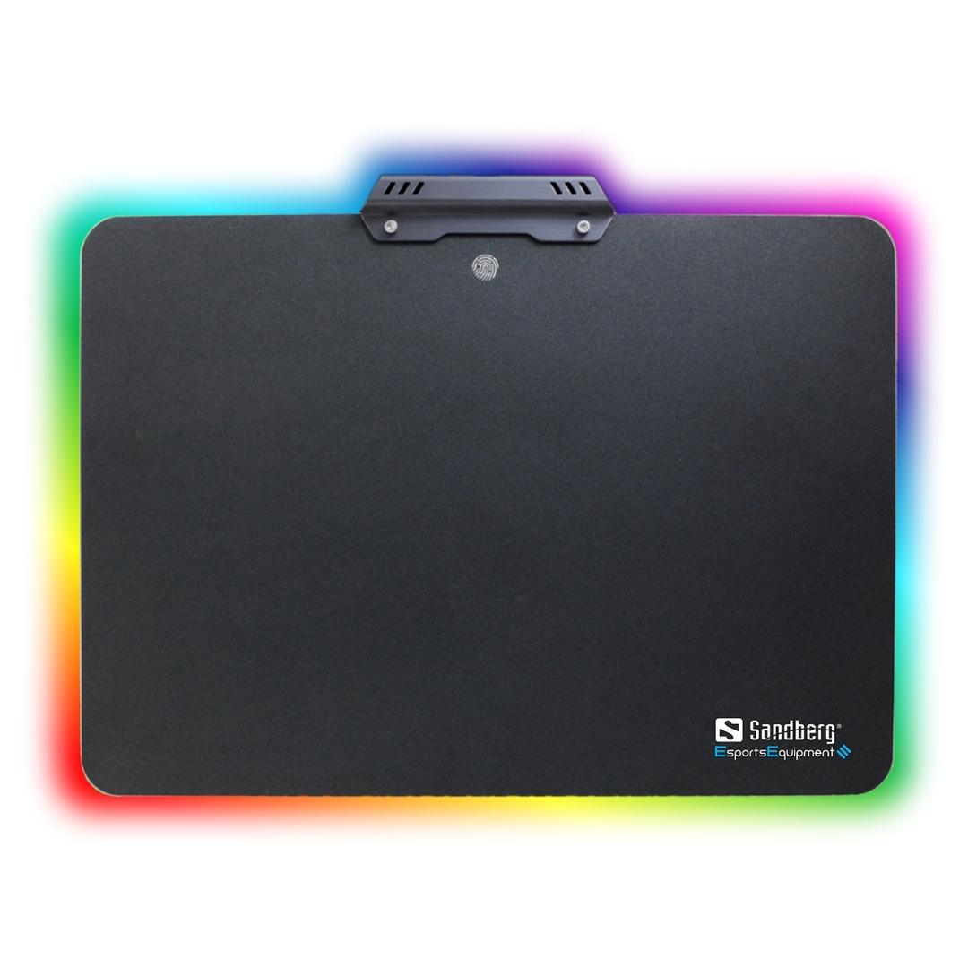 Gamer Mousepad Aluminium Touch RGB, Black (34x24,5cm)