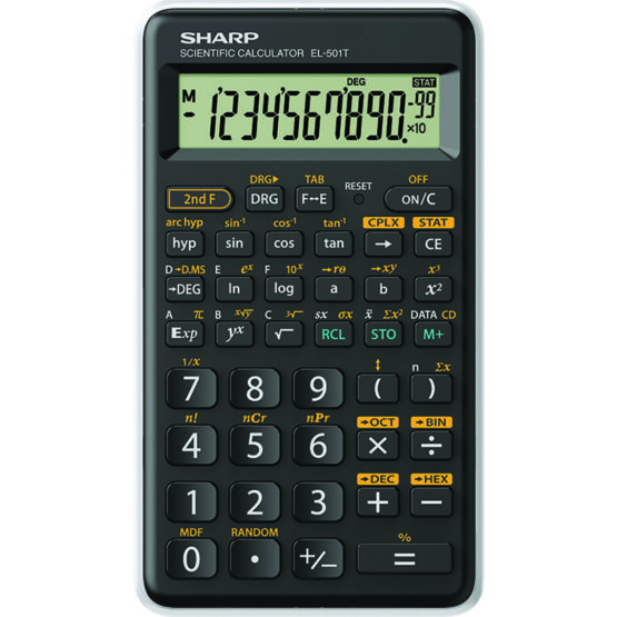 Scientific Calculator SHARP EL-501TBWH, Black/White