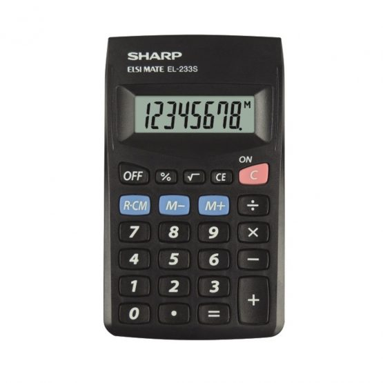 Pocket Calculator SHARP EL-233SBBK
