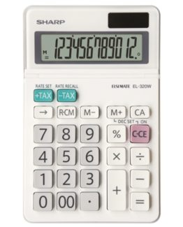 Desk Calculator SHARP EL-320W, 12-digit