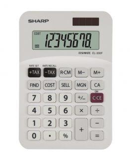 Desk Calculator SHARP EL-330FB white