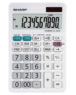 Desk Calculator SHARP EL-330W, 10 digit