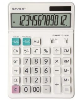 Desk Calculator SHARP EL-340W, 12 digit